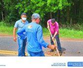 Prefeitura Realiza Manutenção Na Estrada de Acesso à Colônia Chicano