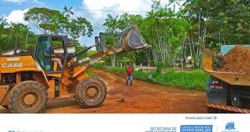 Colônia Chicano Ganha Serviços de Terraplanagem